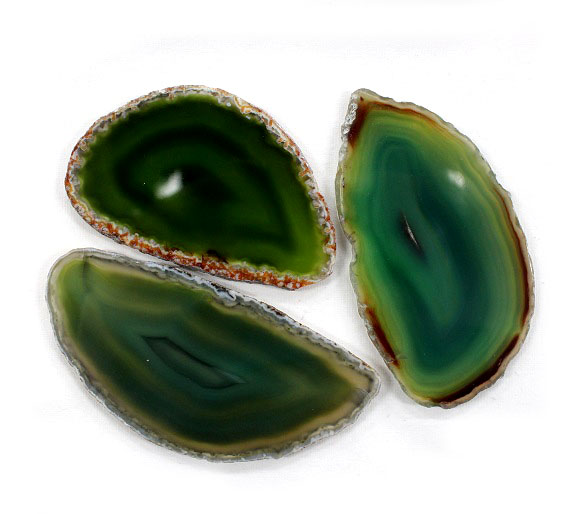 Agate Slice Green Medium