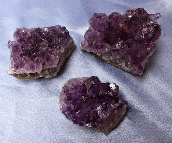 Amethyst Clusters 3pc