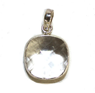 Clear Quartz Round Pendan