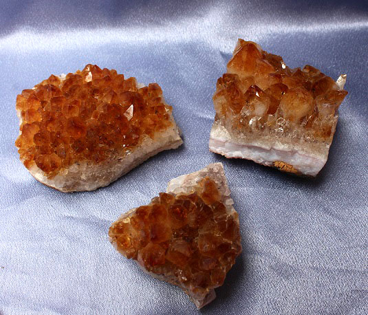 Citrine Clusters 3pc