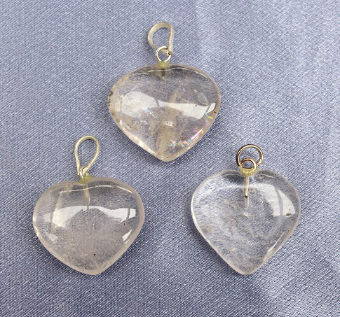 Clear Quartz Heart Pendan