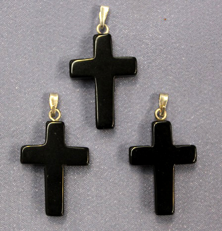 Cross Black Onyx Pendant