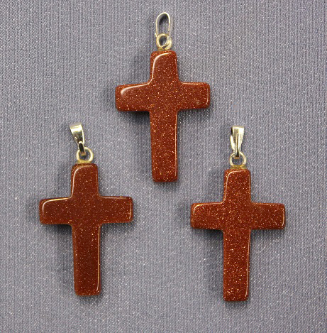 Cross Goldstone Pendant 1
