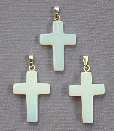 Cross Opalite Pendant 1pc