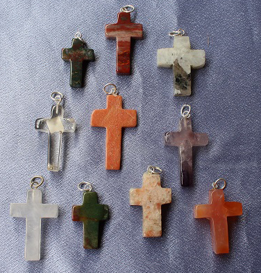Cross Shape Pendants 10pc