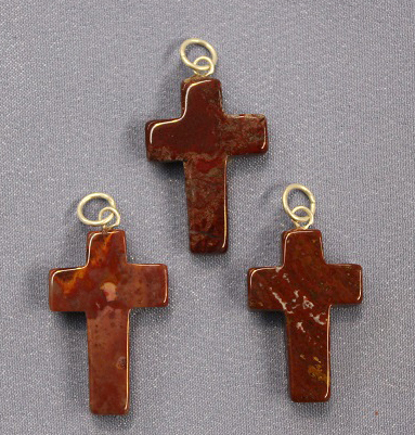 Cross Red Jasper Pendant