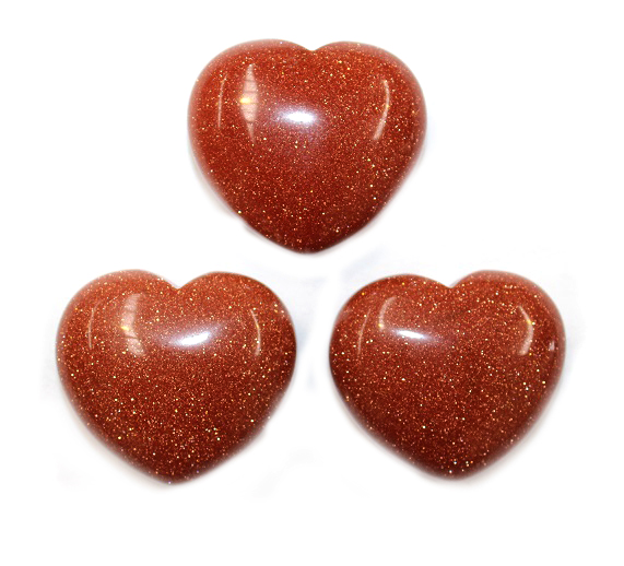 Goldstone Heart 1pc