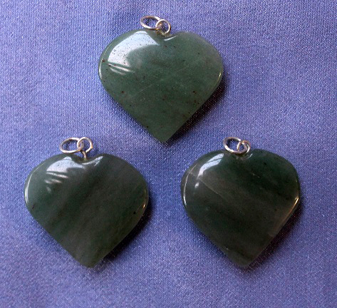 Green Aventurine Heart Pe