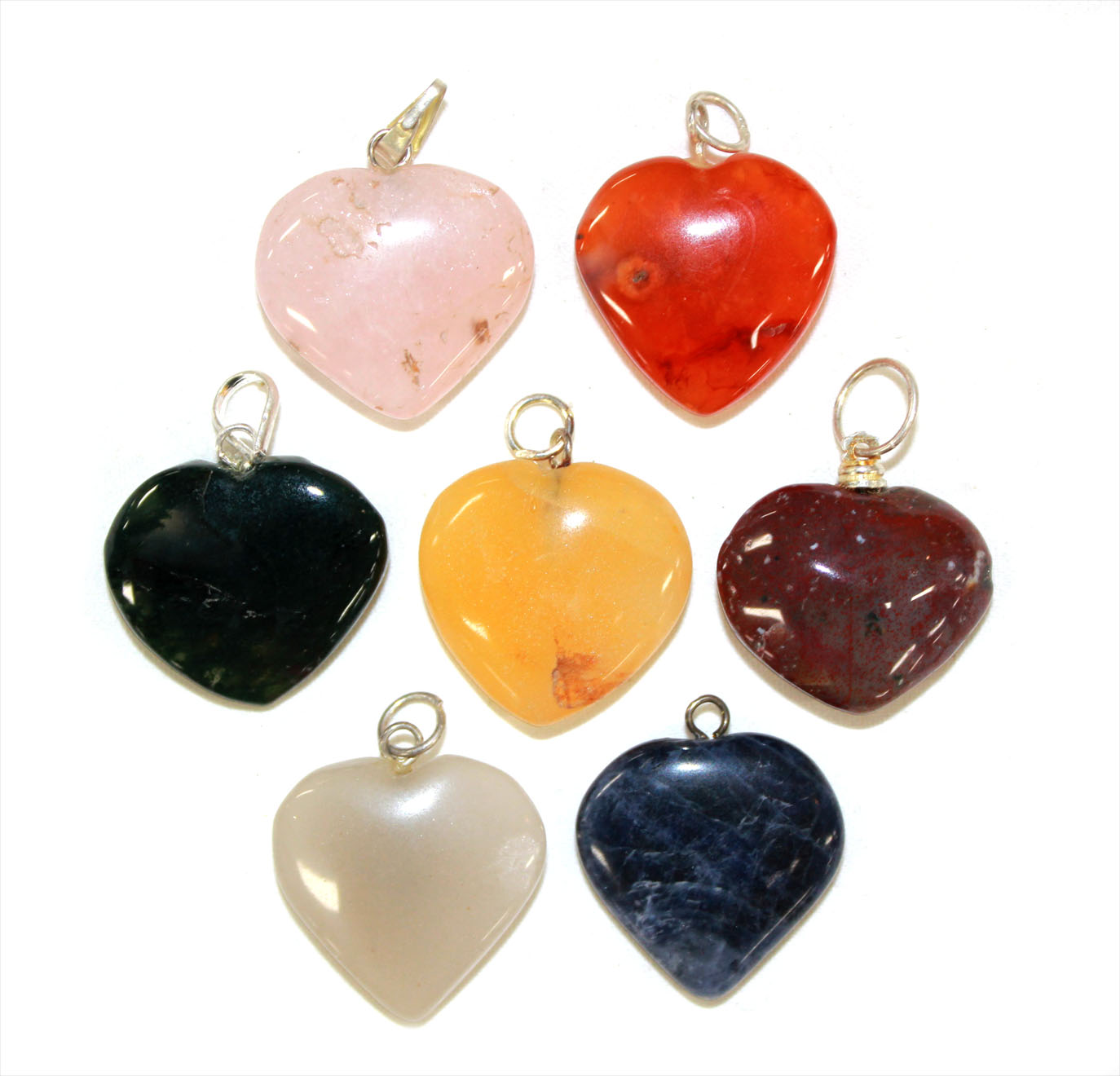 Mixed Heart Pendant 10pc