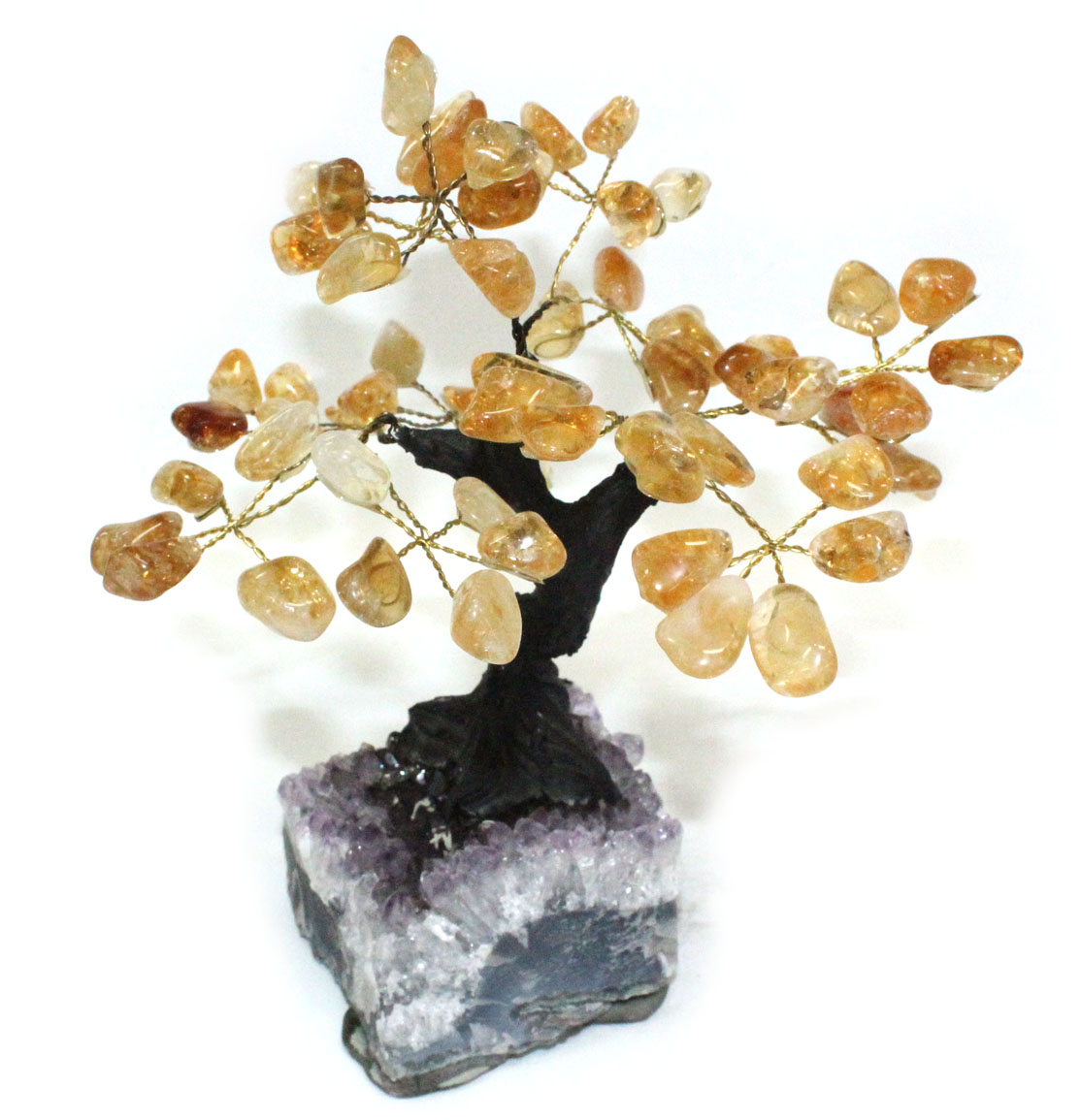 Citrine Tree with Crystal