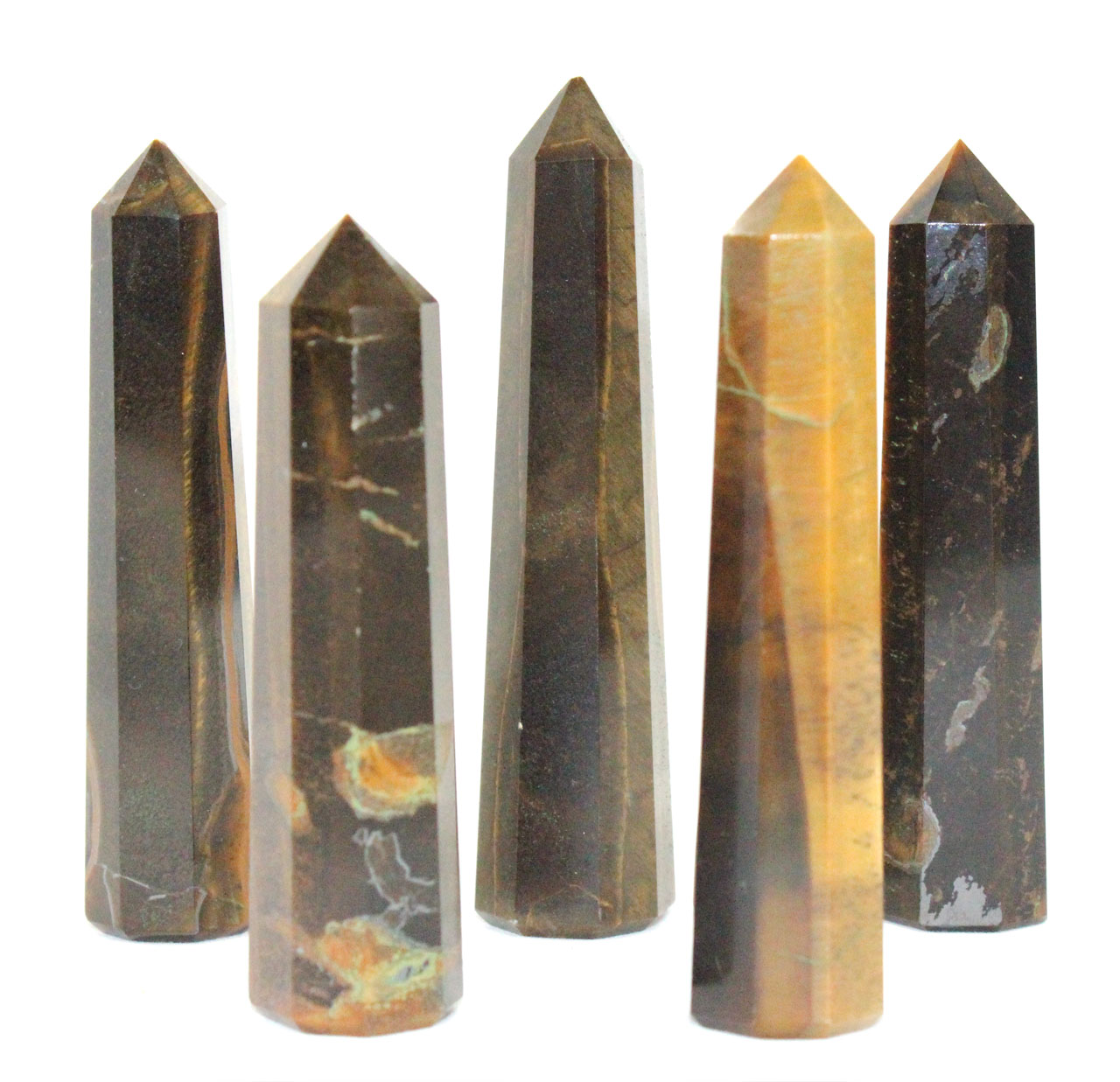 Tigers Eye Obelisk Large