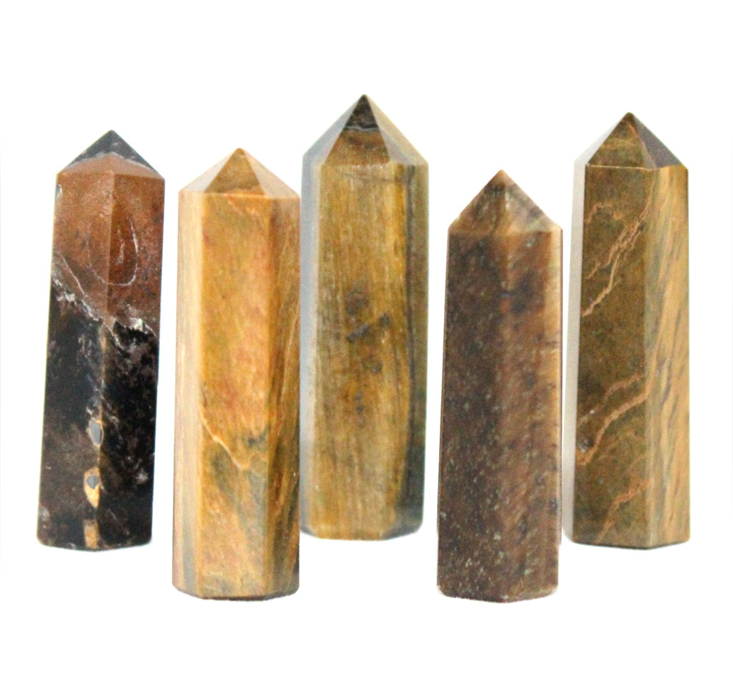 Tigers Eye Obelisk Small