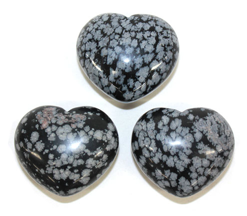 Snowflake Obsidian Heart 1pc