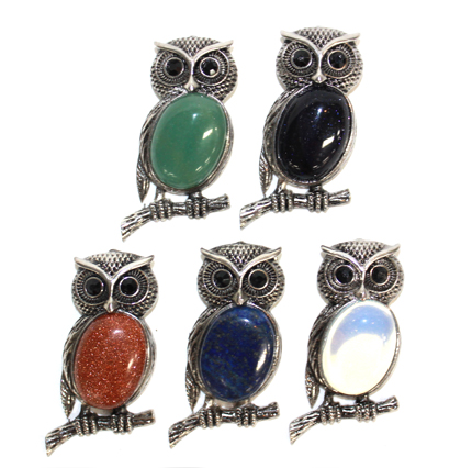 Owl Pendants Bulk Buy 5pc