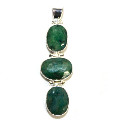 Emerald Faceted Pendant
