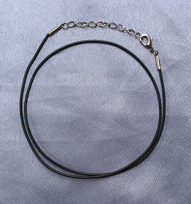Black Strap Necklace 50cm