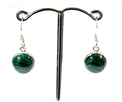 Malachite Round Earrings