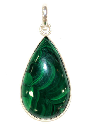 Malachite Tear Pendant
