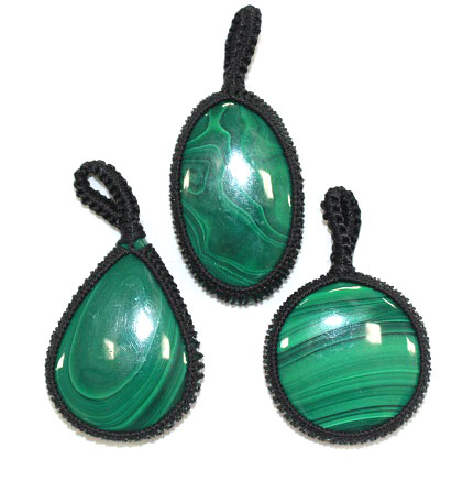 Malachite Thread Pendant