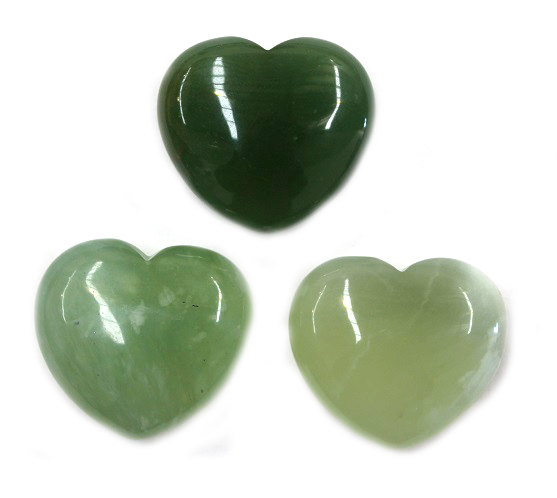 New Jade Heart 1pc