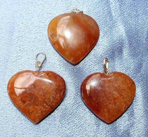 Orange Quartz Heart Penda