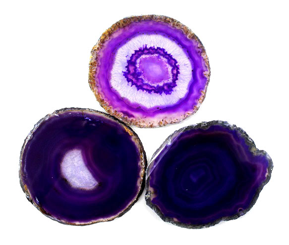 Agate Slice Purple Medium
