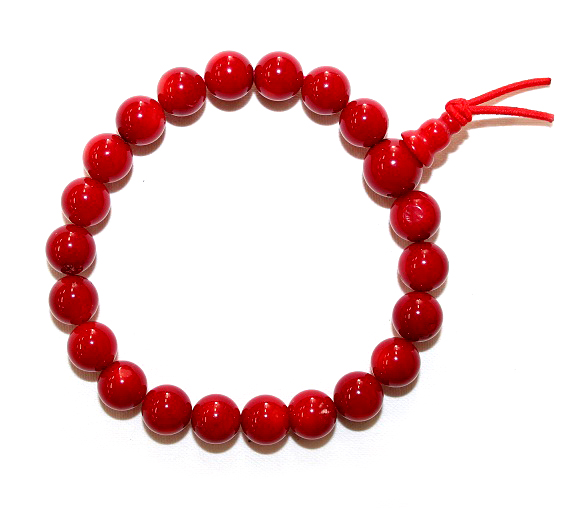 Red Ceramic Beaded Bracel