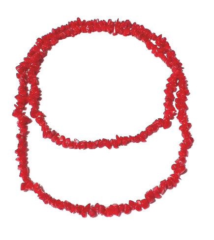 Red Ceramic Chip Necklace