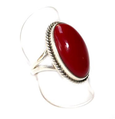 Red Oval Ring - Size 6.5