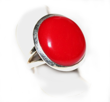 Red Round Ring - Size 7