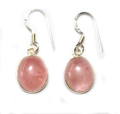 Rose Quartz Oval Earring