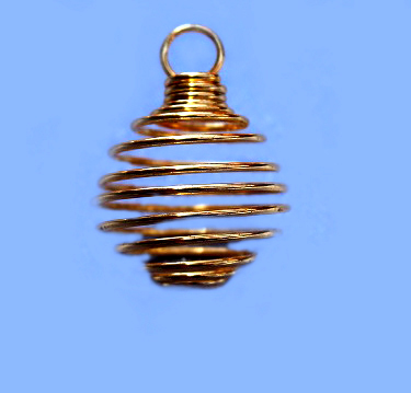 Small Spiral Cage - Gold