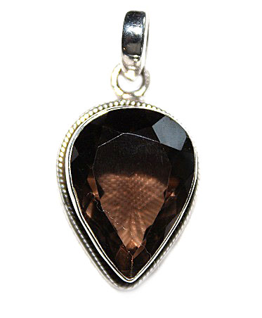 Smokey Quartz Tear Pendan