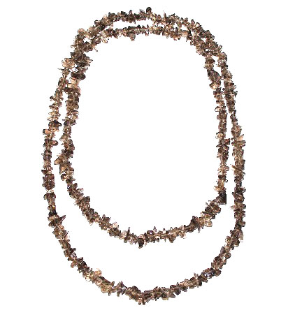 Smokey Quartz Chip Neckla
