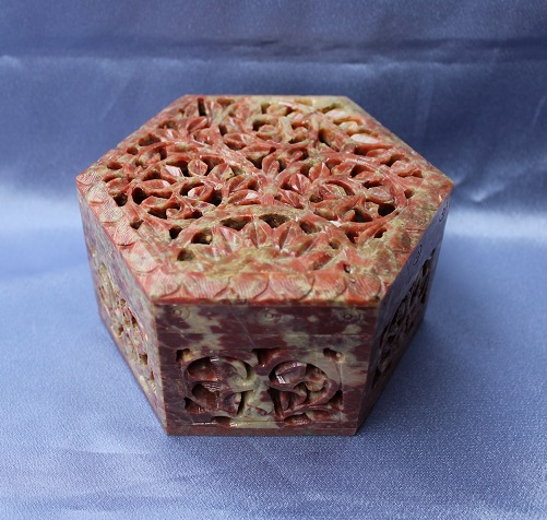 Soapstone Hexagonal Box N