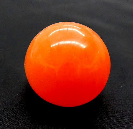 Selenite Sphere Orange 5c