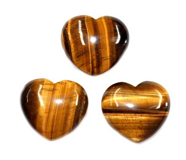Tigers Eye Heart 1pc