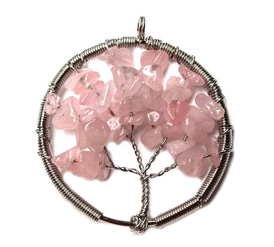 Rose Quartz Tree of Life