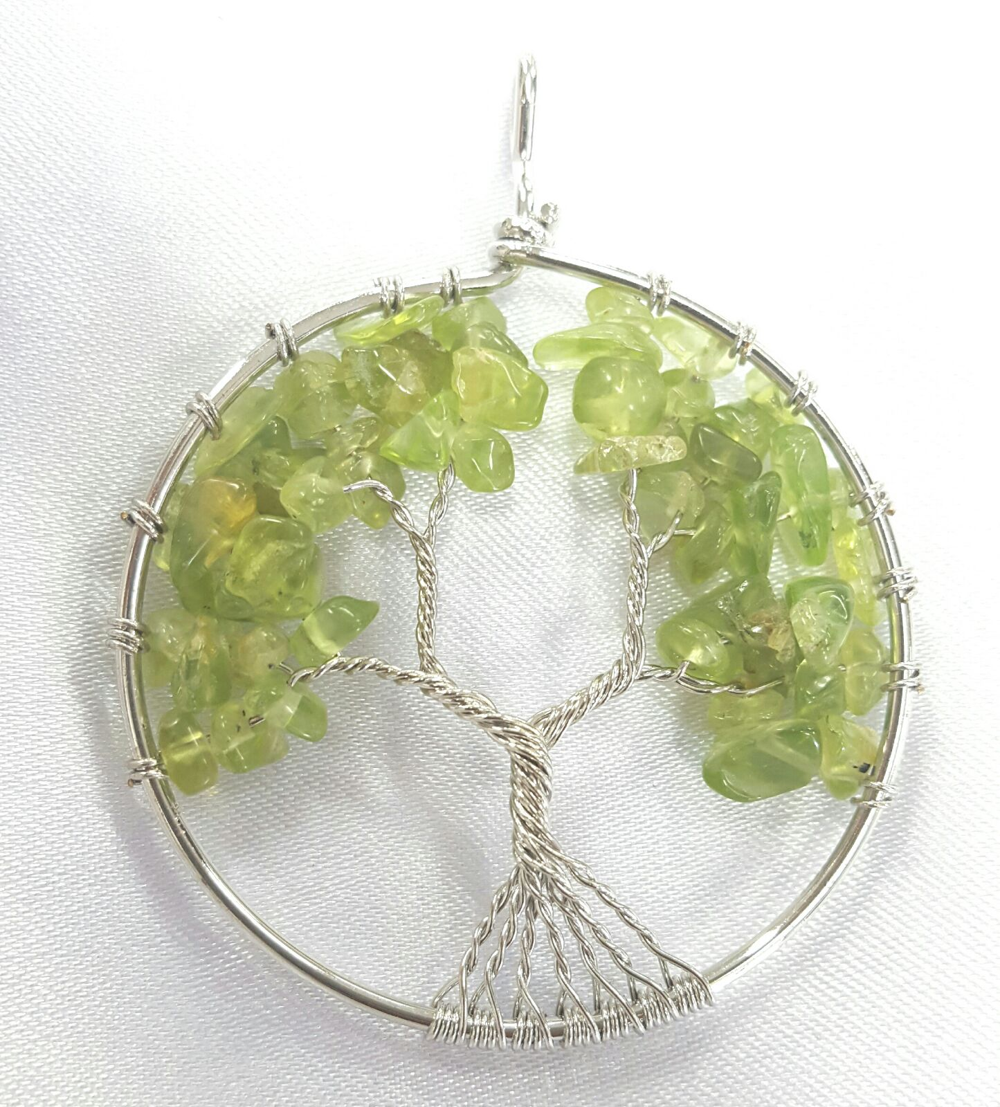 Peridot Tree of Life Pend