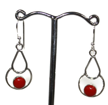 Red Coral Decorative Earr